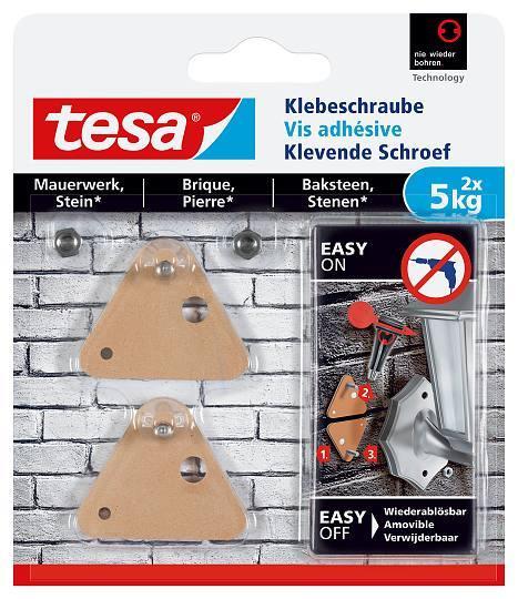 tesa® Klebeschraube für Mauerwerk und Stein 5kg 77904 dreieckig