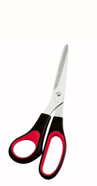 Universalschere für Linkshänder 21,0 cm schwarz/rot