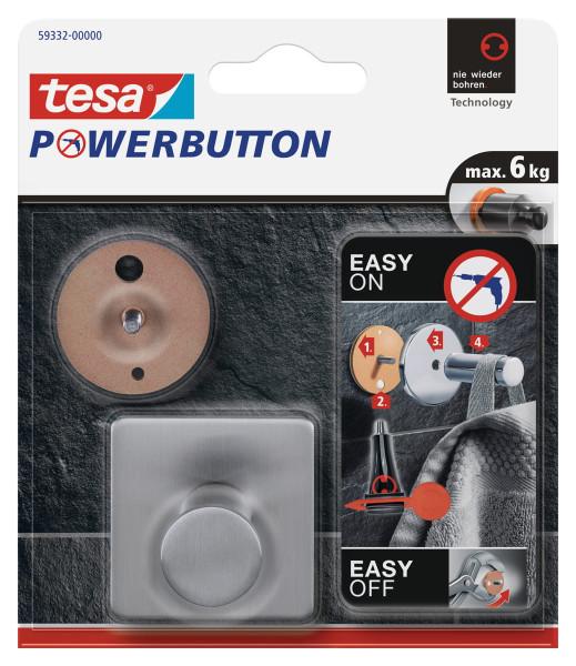 tesa Powerbutton® Haken Classic Eckig