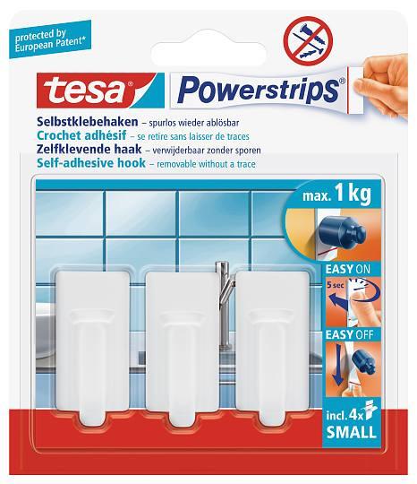 tesa Powerstrips® 57530 Haken Small Classic weiss