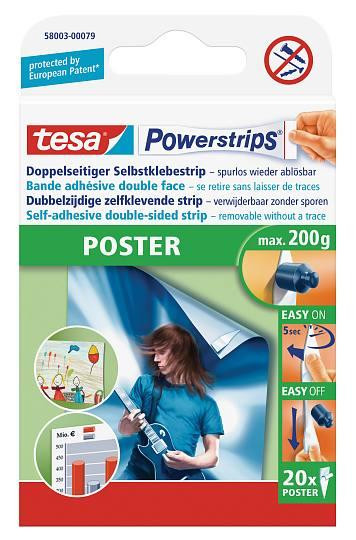 tesa Powerstrips® Versandrückläufer 58003 Posterstrips