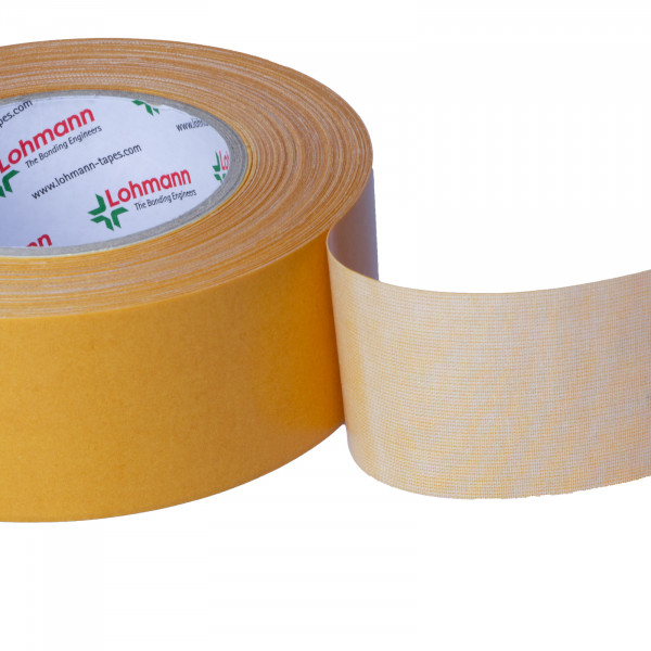 DuploCOLL 43102 Doppelseitiges Montageklebeband mit Gewebeträger 25m lang 50mm breit