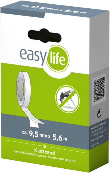 easylife Esatz-Klettband 9,5 mm x 560 cm transparent