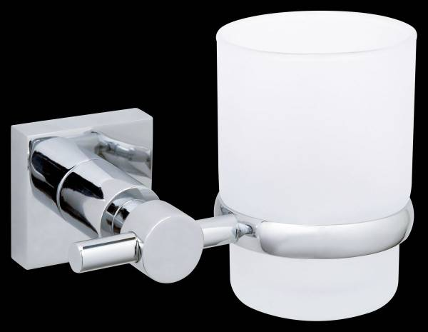 tesa® hukk Zahnbürstenhalter Wand, verchromt