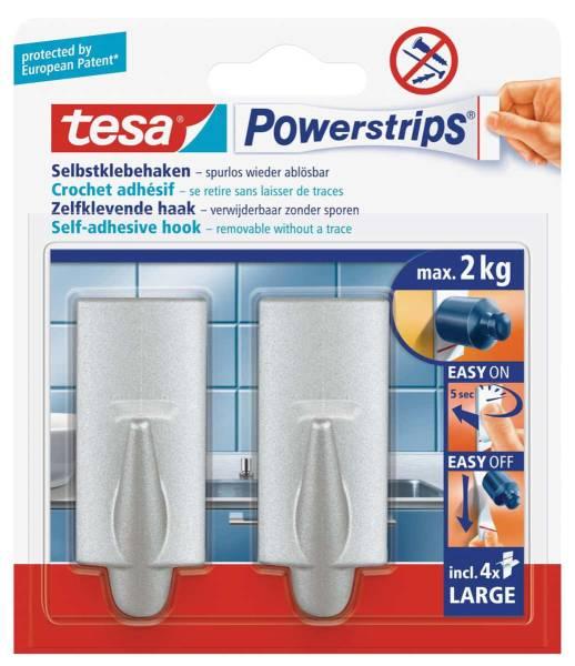 tesa Powerstrips® Haken Large Trend, chrom