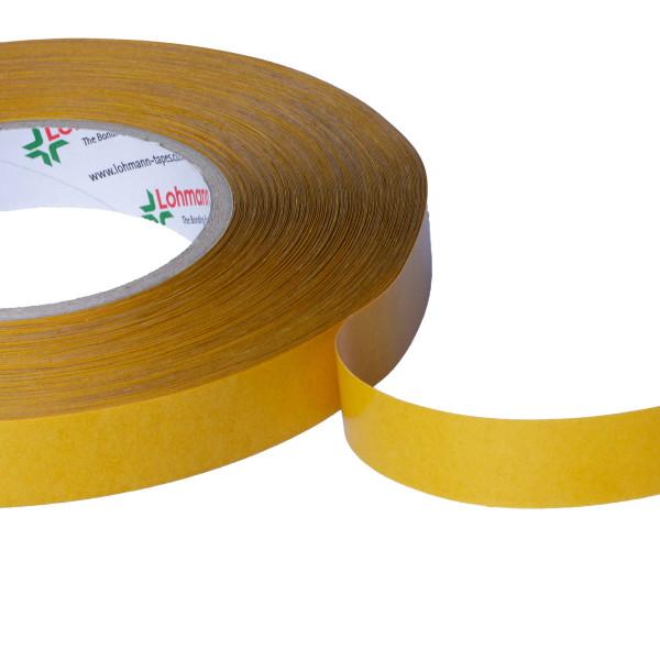 DuploCOLL 378 P Doppelseitiges, transparentes, verzugsfestes Montageklebeband 50m lang 19mm breit