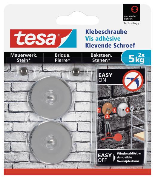 tesa® Klebeschraube für Mauerwerk und Stein 5kg 77906 rund