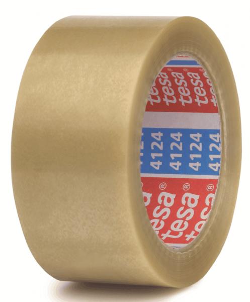 tesapack 4124 Premium PVC Verpackungs-Klebeband transparent stehend