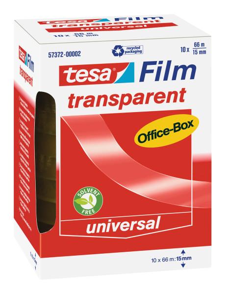 tesafilm® transparent, 10 Rollen, Office-Box