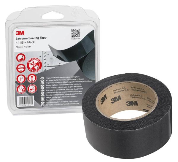 3M™ Hochleistungs Dichtband 4411B schwarz
