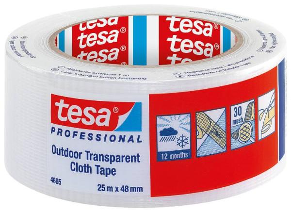 tesa® 4665 UV-Gewebeband transparent 25m lang und 48mm breit
