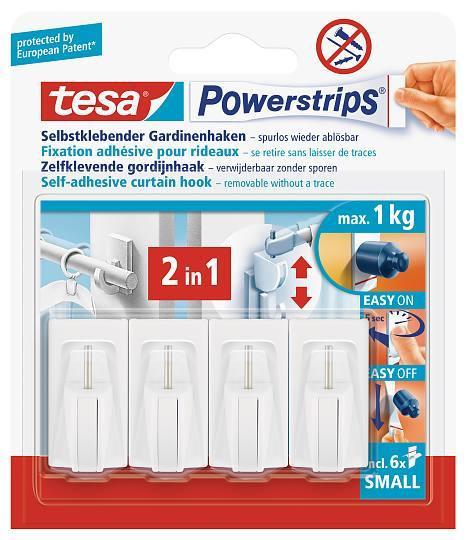 tesa Powerstrips® Gardinenhaken 58034