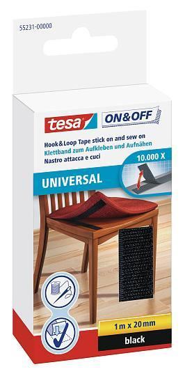 tesa® On & Off Klettband zum Aufkleben und Aufnähen