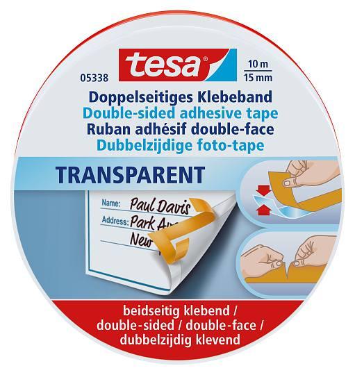 tesa® Doppelseitiges Klebeband Transparent