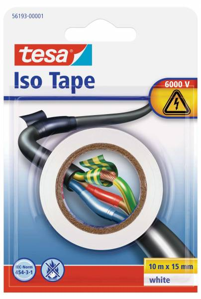tesa® Isolierband, weiß, Blister (10m :15mm)