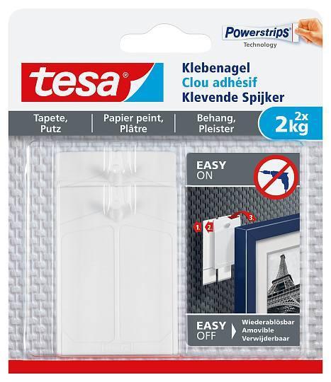 tesa® Klebenagel für Tapeten und Putz (2kg) 77776 Powerstrips