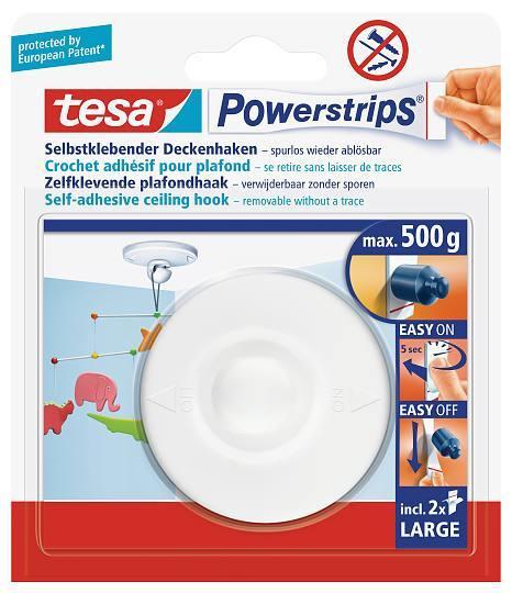 tesa Powerstrips® 58029 Deckenhaken weiss