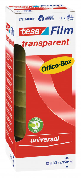 tesafilm® transparent, 10 Rollen, Office-Box