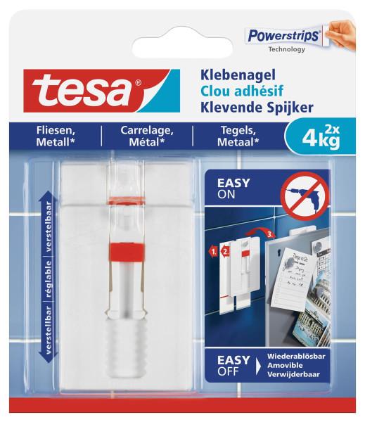 tesa® Klebenagel für Fliesen und Metall 77767 4kg verstellbar