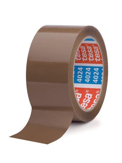 tesapack 4024 PP Verpackungs-Klebeband leise braun stehend 50 mm