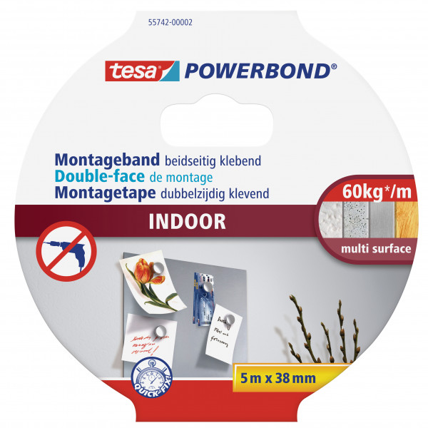 tesa Powerbond® Montageband Indoor 5m:38mm