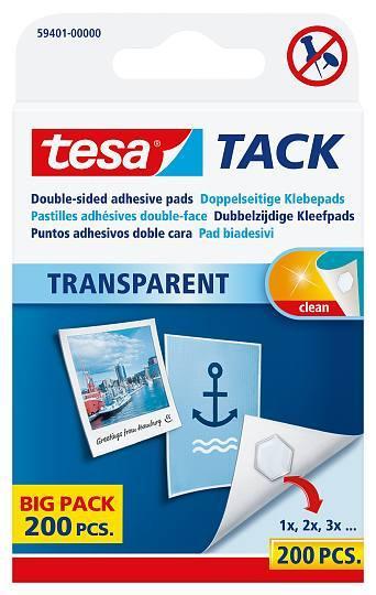 tesa® 59401 TACK transparent Powerstrips