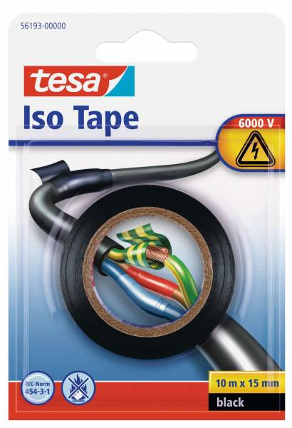 tesa® Isolierband, schwarz , Blister (10m :15mm)