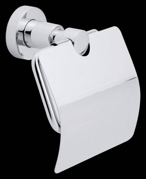tesa® LOXX WC-Papierhalter m. Deckel, verchromt