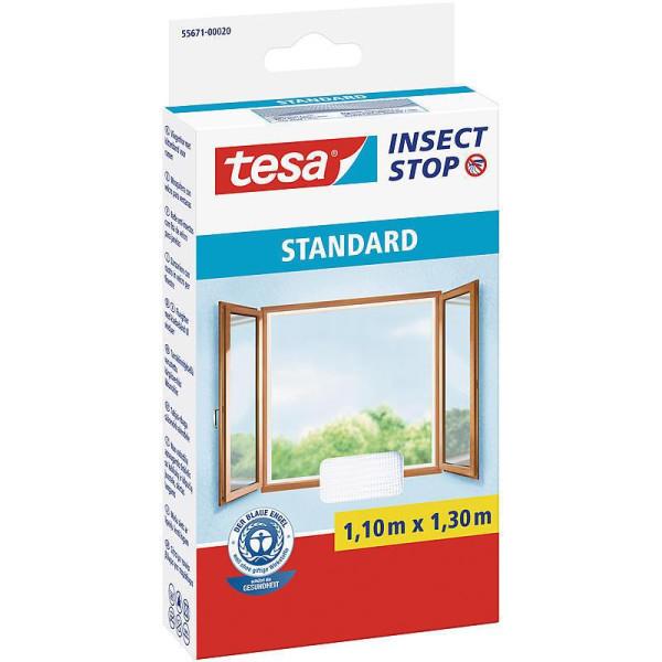 tesa® Insect Stop Versandrückläufer Fliegengitter STANDARD für Fenster Farbe weiß