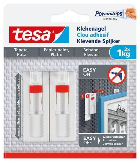 tesa® Klebenagel 77774 Tapeten und Putz 1kg verstellbar