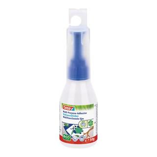 tesa Vielzweckkleber ecoLogo® 100g, Leerflaschen inkl. Einfülltrichte