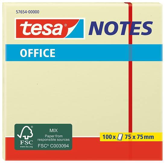 tesa® Office Notes 100 Blatt, gelb