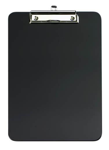 Klemmbrett A4 aus Kunststoff schwarz