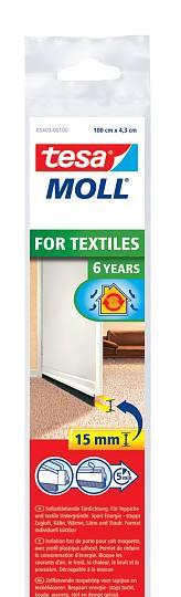 tesamoll® STANDARD Türdichtschiene für Textilböden