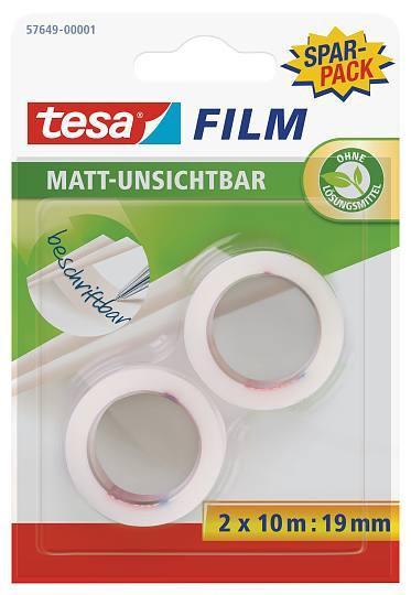 tesafilm® matt-unsichtbar, 2 Rollen, Blister