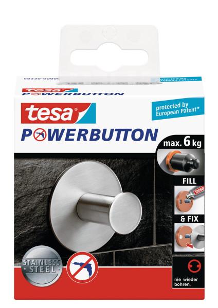 tesa Powerbutton® Haken Classic Rund