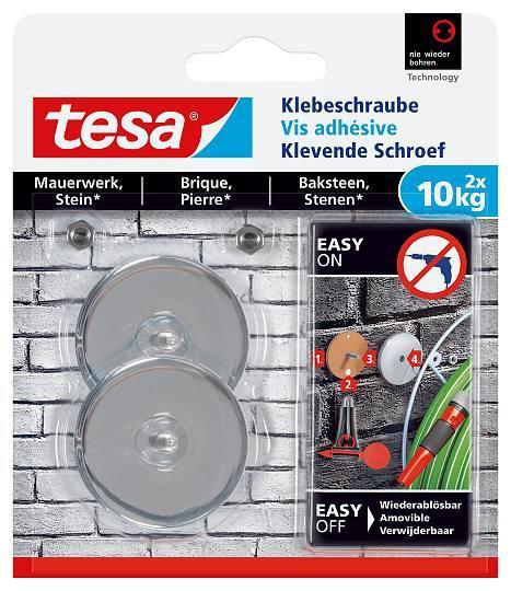 tesa® Klebeschraube Versandrückläufer rund für Mauerwerk und Stein (10kg)