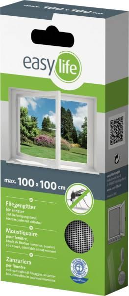 easylife Fliegengitter für Fenster mit Klettband in div. Größen