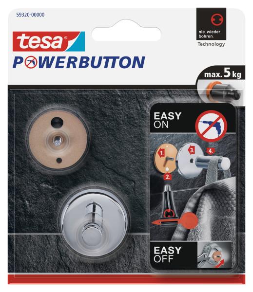 tesa Powerbutton® Haken Universal small