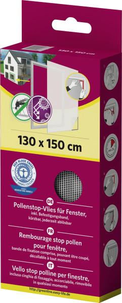 easylife Pollenschutz Fliegengitter Fenster 130 x 150 cm weiss mit Klettband