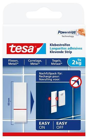 tesa® Klebestreifen für Fliesen und Metall 77760 9x2kg