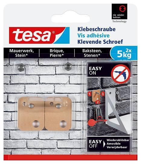 tesa® Klebeschraube für Mauerwerk und Stein 5kg 77905 rechteckig