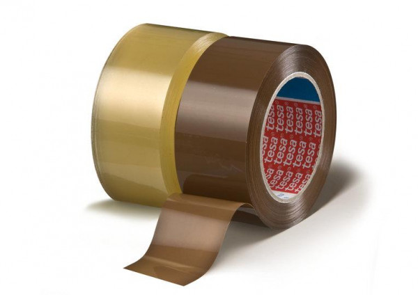 tesa Premium Verpackungsband 64044 transparent und braun 50 mm