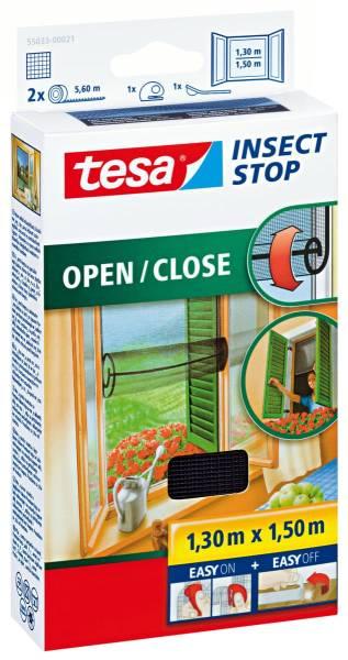 tesa Fliegengitter Fenster, zum Öffnen und Schließen