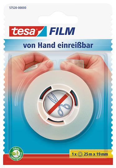 tesafilm® von Hand einreißbar, Blister