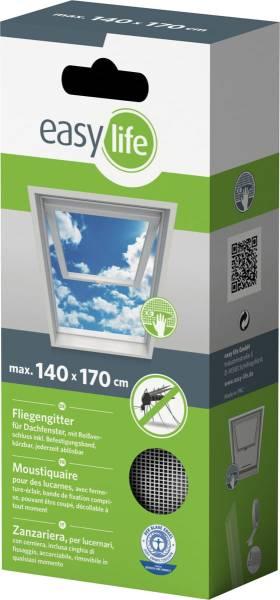 easylife Fliegengitter für Dachfenster 140x170cm mit Reißverschluss