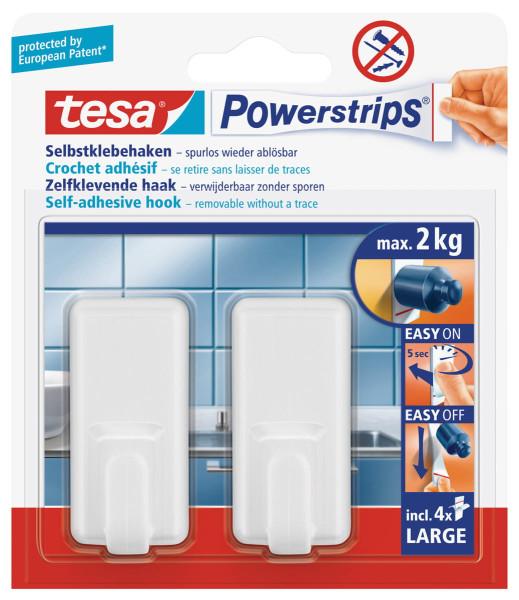 tesa Powerstrips® Haken Large Classic, weiss
