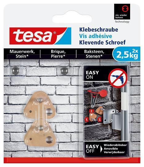 tesa® Klebeschraube für Mauerwerk und Stein 2,5kg 77901 dreieckig