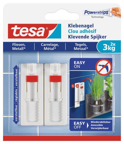 tesa® Klebenagel für Fliesen und Metall 77764 3kg verstellbar