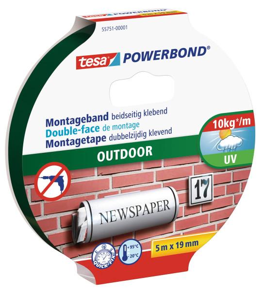 tesa Powerbond® Montageband Outdoor 5m:19mm